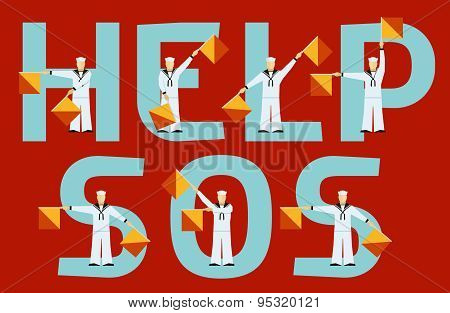 Help and SOS semaphore flags