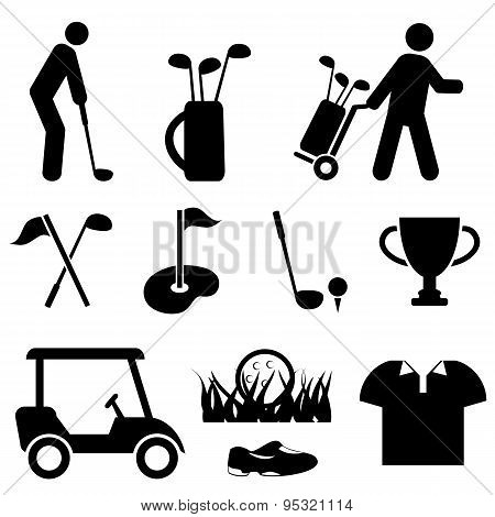 Golf And Golf Player Icons