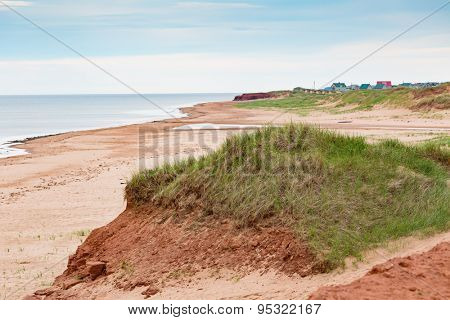 Deserted beach on the north shore of Prince Edward Island, Canada.