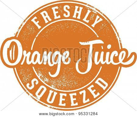 Freshly Squeezed Orange Juice Stamp