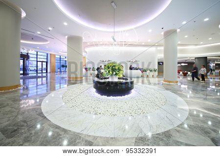 SOCHI, RUSSIA - JUL 27, 2014: Interior vestibule in the Hotel Radisson Blu Paradise Resort and Spa