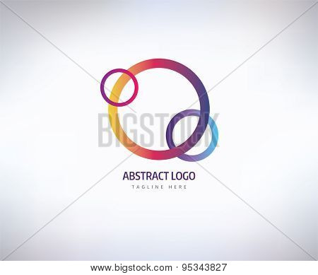 Abstract vector logo element. Logotype template, arrows and shapes. Stock illustration for design