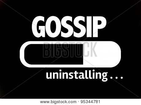 Progress Bar Uninstalling with the text: Gossip
