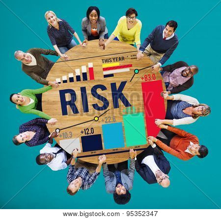 Risk Management Business Investment Unsteady Concept