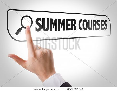 Summer Courses written in search bar on virtual screen
