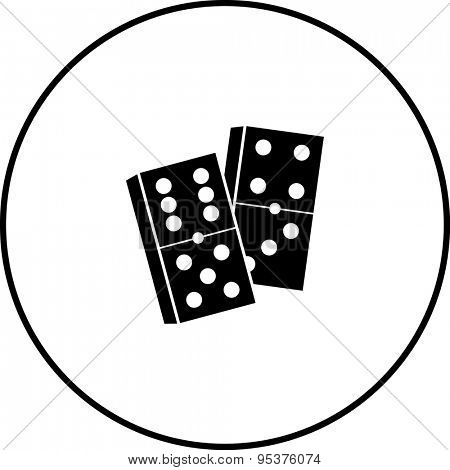 dominoes game pieces symbol