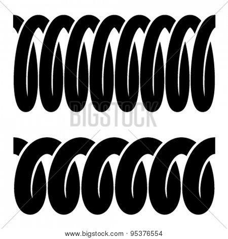 vector tension spring seamless black symbols