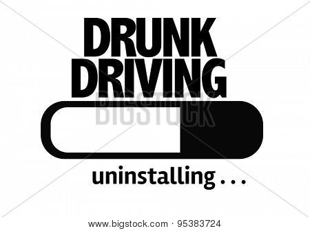 Progress Bar Uninstalling with the text: Drunk Driving  poster
