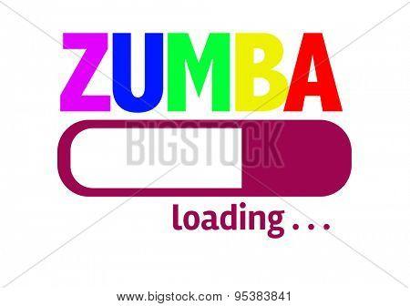 Progress Bar Loading with the text: Zumba