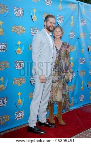 BURBANK - JUNE 25: Bryan Fuller and Melissa McBride arrive at the 41st Annual Saturn Awards on Thursday, June 25, 2015 at the Castaway Restaurant in Burbank, CA.