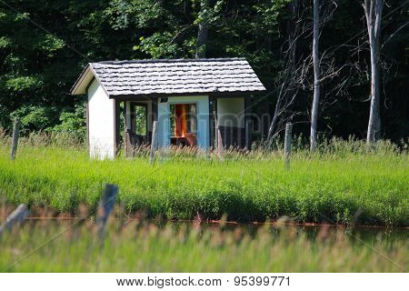 Abandoned shelter in Michigan rural area near Boyne falls