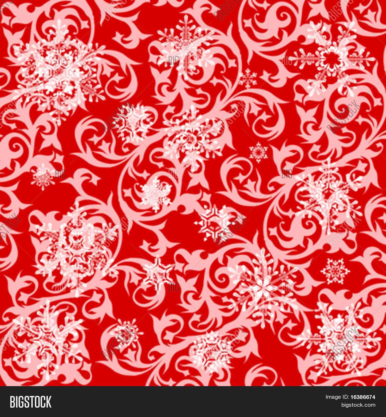 Red Floral Wallpaper Vector Photo Free Trial Bigstock
