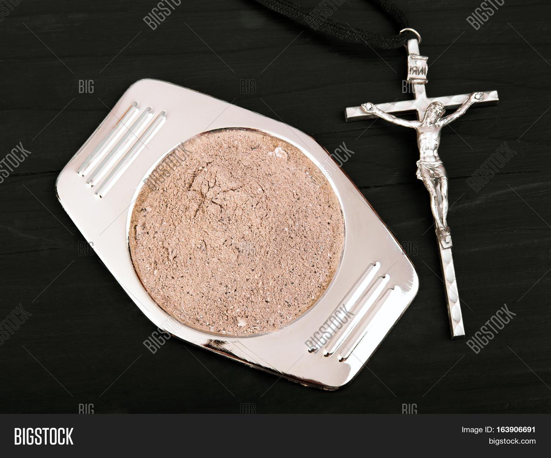 Cross ash symbols ash wednesday image photo bigstock cross and ash symbols of ash wednesday buycottarizona Image collections