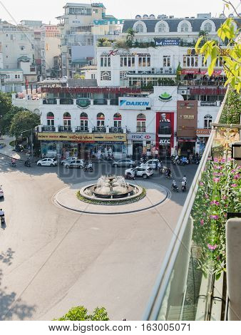 Vietnam, Hue - October 21, 2016: The center of the metropolis of Hue, Vietnam