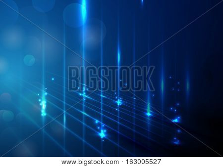 Abstract lights technology concept and bokeh background