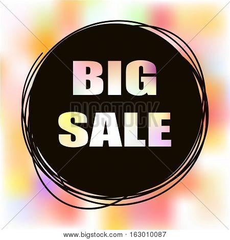 Doodle sale tag. Big Sale banner. poster