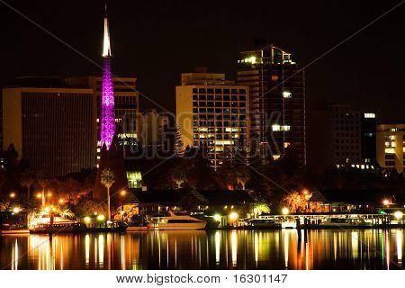 Perth  Western Australia by night