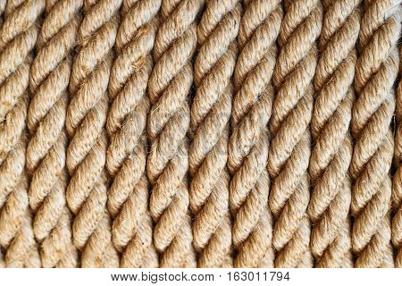 Bright yellow or brown clean rope background and texture