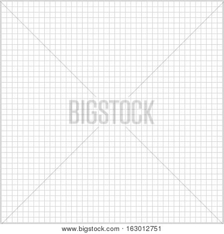 square background lined sheet of paper for print or design, vector illustration