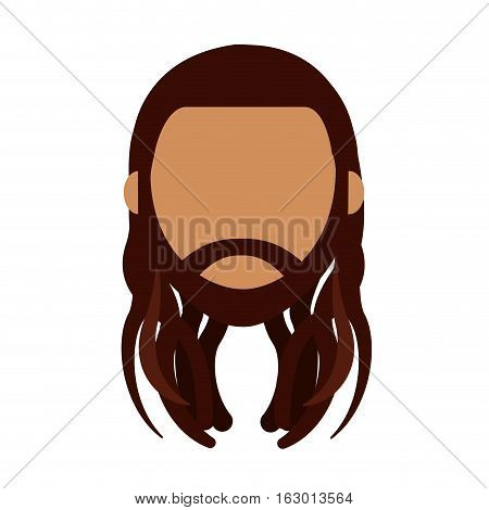 reggae man character icon vector illustration design