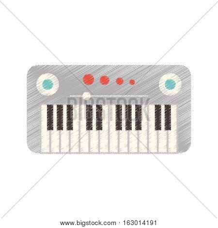 synthesizer device isolated icon vector illustration design
