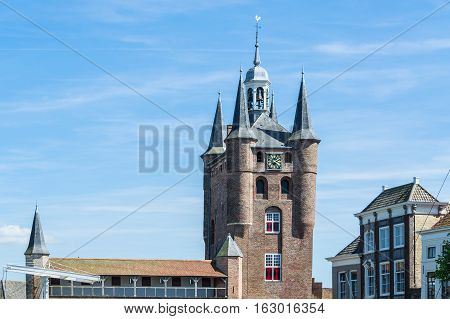 The Noordhafenpoort of Zierikzee. The harbor port is one of the three old city gate.