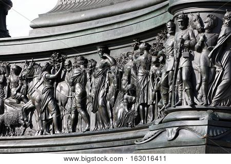 detail on Dresden Castle or Royal Palace (Dresdner Residenzschloss or Dresdner Schloss) is one of oldest buildings in Dresden