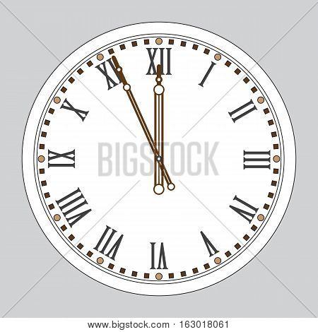 Chime. Sign of New Year. New Year's watch. Wall clock