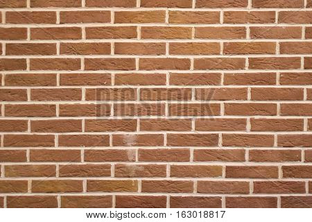 High Resolution Texture Of A Red Brick Wall. Laying Horizontal Technology Architecture Background.