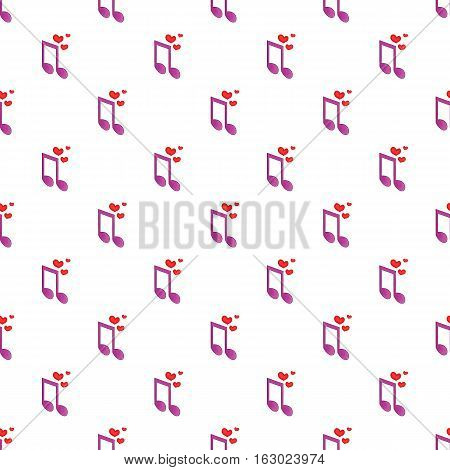 Melody of love pattern. Cartoon illustration of melody of love vector pattern for web