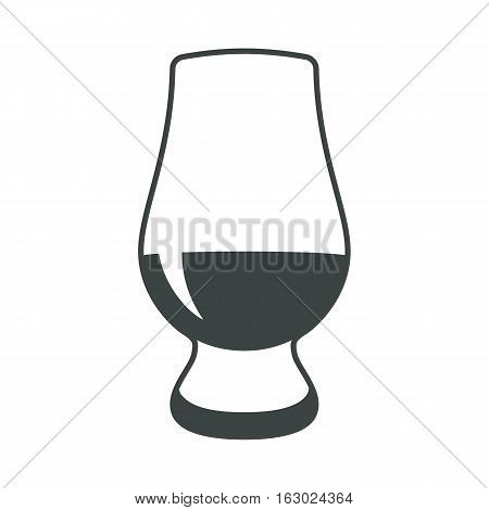 Whiskey glass alcohol icon flat web sign symbol logo label set