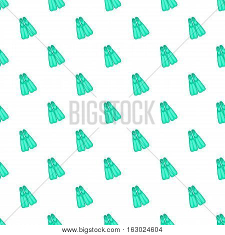 Blue flippers pattern. Cartoon illustration of blue flippers vector pattern for web