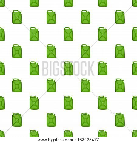Green fuel canister pattern. Cartoon illustration of green fuel canister vector pattern for web
