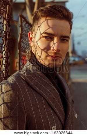 Handsome Man In Fashion Jaket