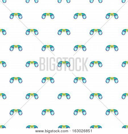 Binoculars pattern. Cartoon illustration of binoculars vector pattern for web