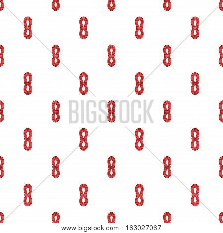 Red rope pattern. Cartoon illustration of red rope vector pattern for web