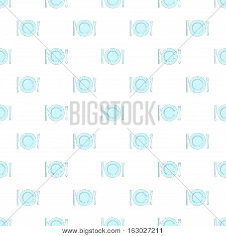 Empty dish fork and knife pattern. Cartoon illustration of empty dish fork and knife vector pattern for web