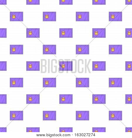 Safe pattern. Cartoon illustration of safe vector pattern for web