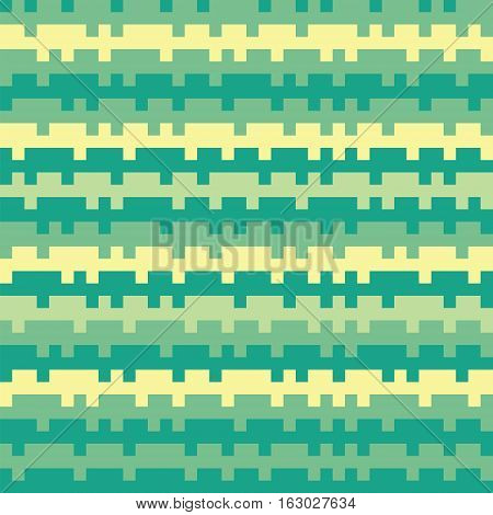 Abstract Texture Railways Striped Pixel Seamless Background Cyan