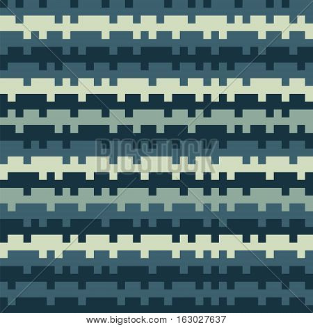 Abstract Texture Railways Striped Pixel Seamless Background Dark Blue