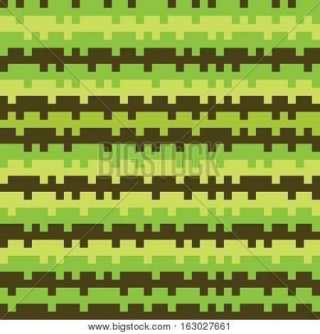 Abstract Texture Railways Striped Pixel Seamless Background Green 1