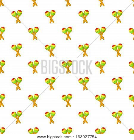 Maracas pattern. Cartoon illustration of maracas vector pattern for web
