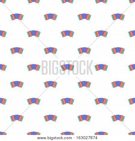 Accordion pattern. Cartoon illustration of accordion vector pattern for web