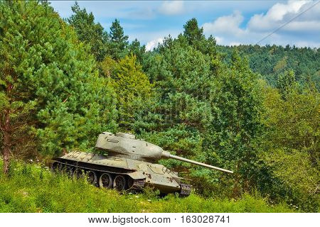 Tank In The Forest
