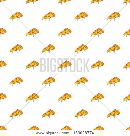 Slice of pizza pattern. Cartoon illustration of slice of pizza vector pattern for web