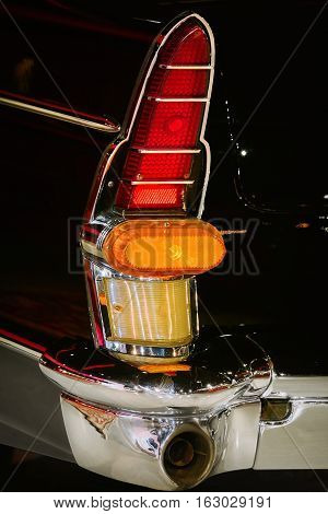 Image of Back Lamp of an Old Car