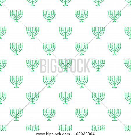 Menorah pattern. Cartoon illustration of menorah vector pattern for web