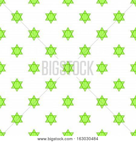 Star of David pattern. Cartoon illustration of Star of David vector pattern for web