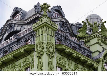 Art Nouveau. The building of hotel