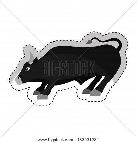 bull economy symbol isolated icon vector illustration design